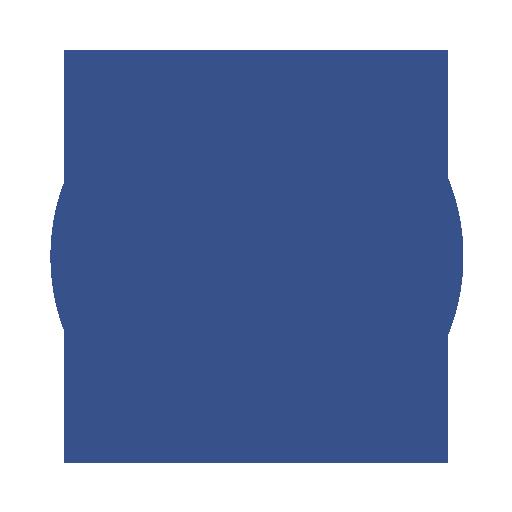Facebook Link with Facebook logo.